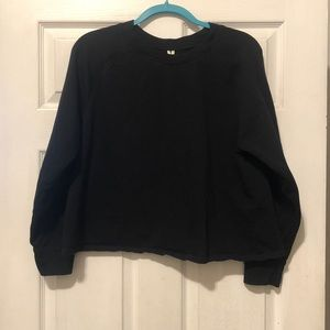 Cropped Anthropologie light sweater